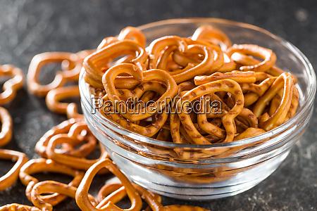 heart shaped pretzel