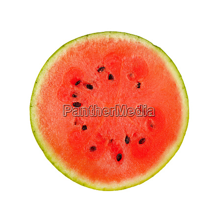 close up half of red watermelon
