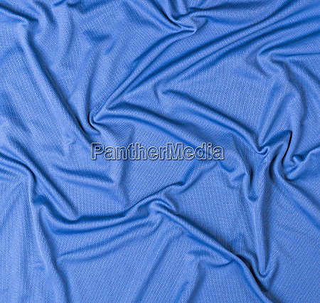 wrinkled blue faux fabric canvas for
