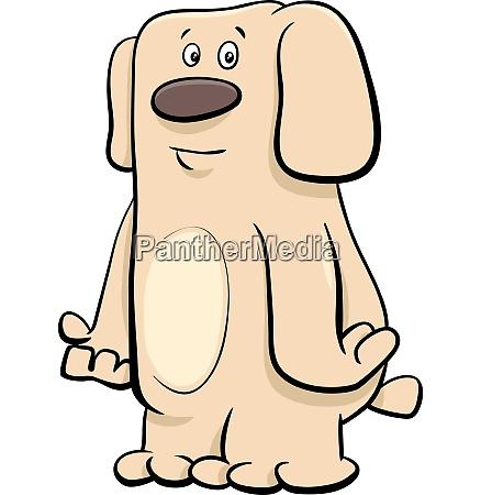 funny beige dog pet cartoon character