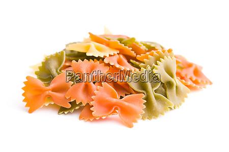 farfalle pasta colorful italian pasta