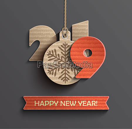 happy new year 2019 design card