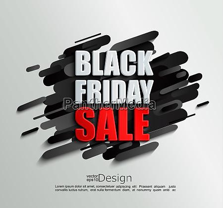 sale banner for black friday on