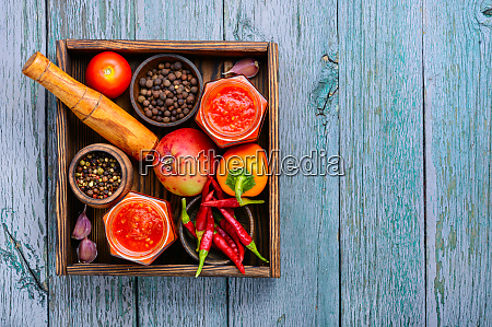 spicy seasoning adjika sauce