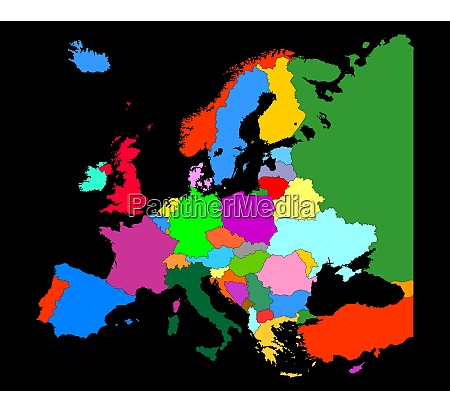 map of europe with country