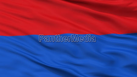 papa city flag hungary closeup view