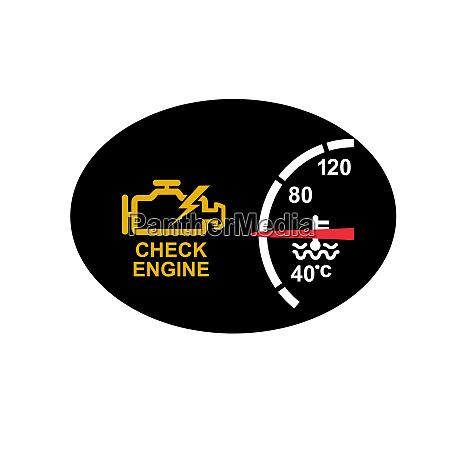 check engine warning symbol icon