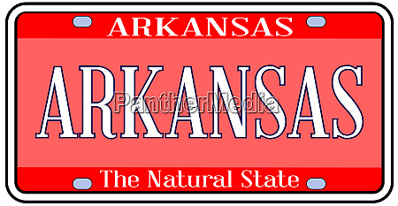 arkansas state license plate spoof