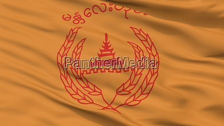 mandalay city flag myanmar closeup view
