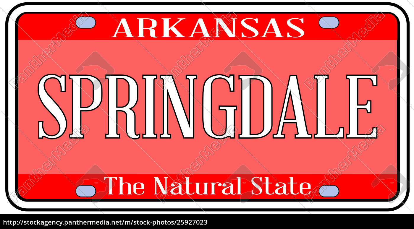 arkansas, state, license, plate, with, - 25927023
