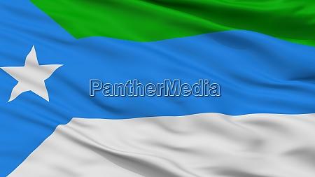 jubaland city flag somalia closeup view