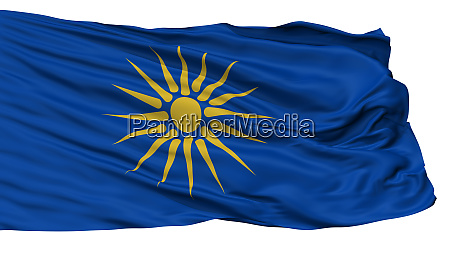 greek macedonia flag isolated on white