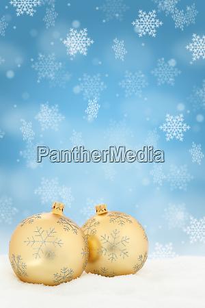 christmas golden balls baubles background decoration