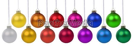 christmas balls baubles banner deco colors
