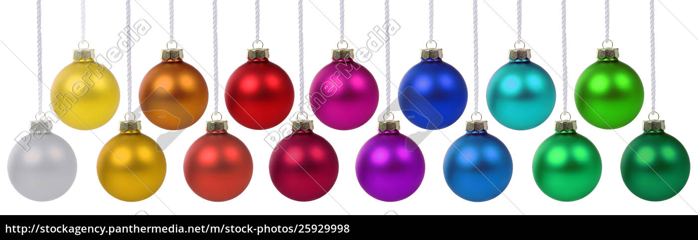 Christmas Balls.Stock Image 25929998 Christmas Balls Baubles Banner Decoration Colors Hanging