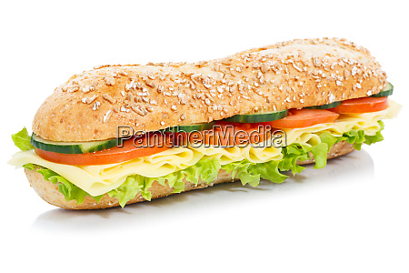 baguette sub sandwich whole grain grains