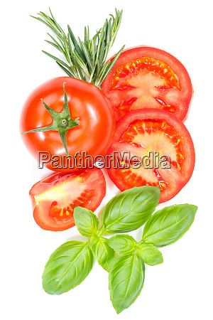 tomatoes tomatos vegetables with basil from