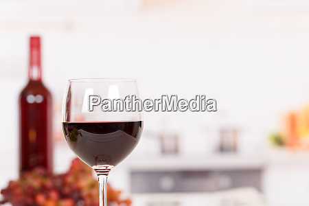 red wine in a glass with