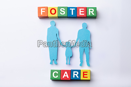 foster care cubic blocks with family