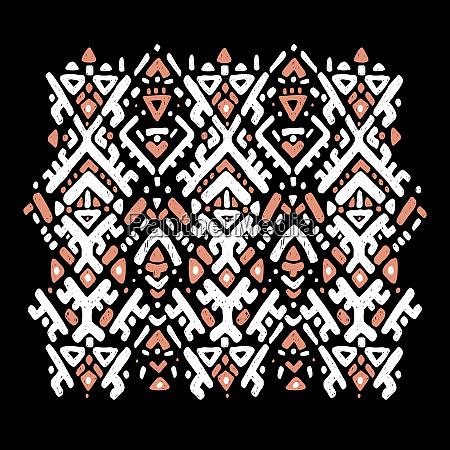ikat ornament tribal pattern