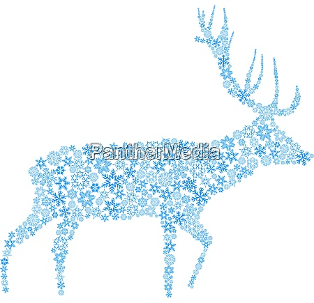 reindeer from snowflakes