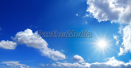 conceptual background image of blue sky