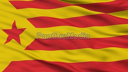 catalan nationalism flag closeup