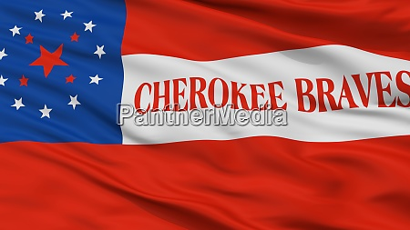 cherokee braves indian flag closeup