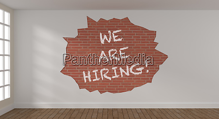 we are hiring on a brick