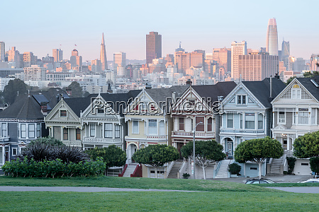 sunset over the painted ladies of