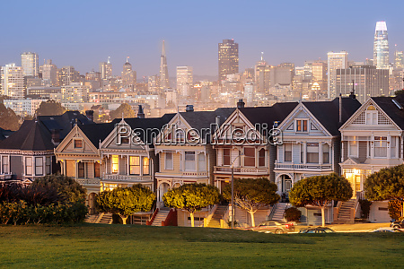 dusk over the painted ladies of