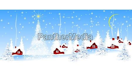 village on christmas eve