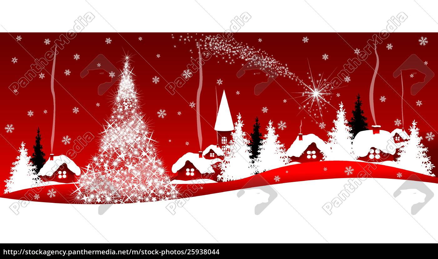 shining, christmas, star, over, the, village - 25938044