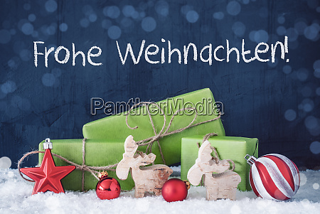 green christmas gifts snow frohe weihnachten