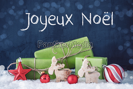 green christmas gifts snow joyeux noel