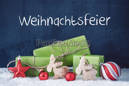 green christmas gifts snow weihnachtsfeier means