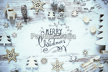 flat lay christmas decoration calligraphy merry