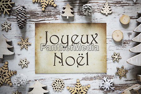 rustic christmas decoration paper joyeux noel