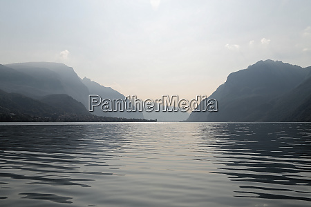 lake como and alps in the