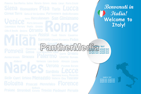 travel italy template vector with names