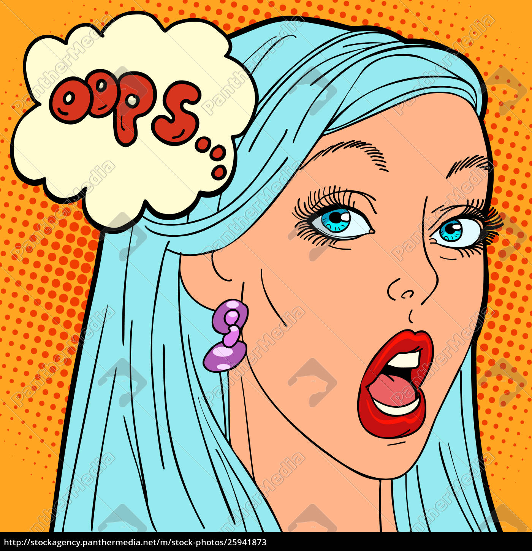 Oops Pop Art Woman Royalty Free Image 25941873 Panthermedia Stock Agency