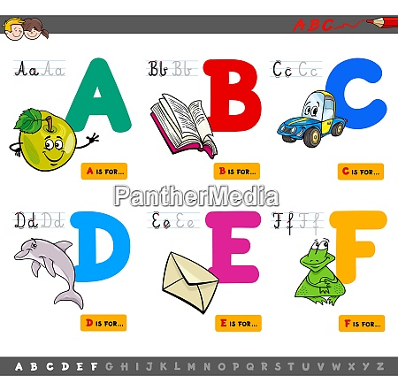 educational cartoon alphabet letters