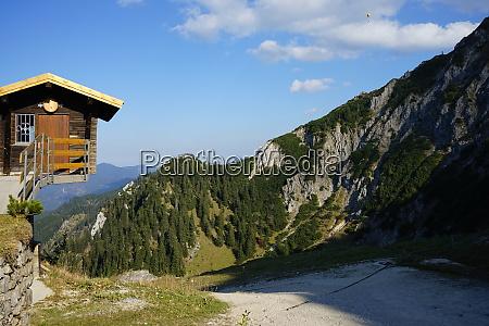 overhanging log cabin in the allgaeu