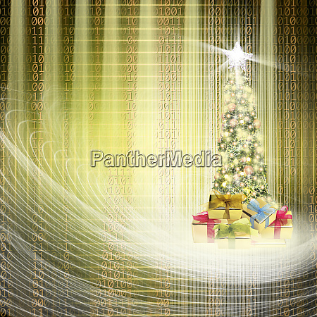 conceptual close up decorated shiny christmas