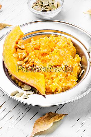 pumpkin porridge and pumpkins