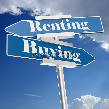 renting and buying signs