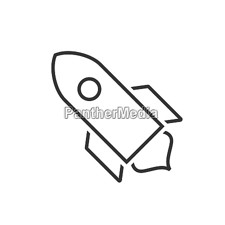 spacecraft line icon on a white