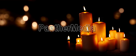 candle lights and bokeh in the