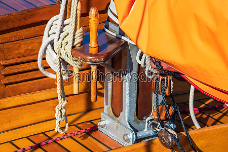 detail of a historical sailing ship