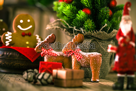 christmas decorations on wood gingerbread decor